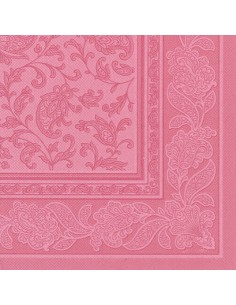 Servilletas papel decoradas Royal Collection color rosa 40 x 40 cm Ornaments