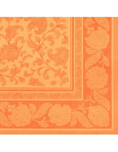 20 Servilletas Decoradas 40 x 40 cm Color Naranja Ornaments Royal Collection
