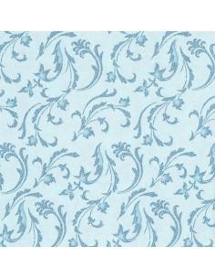50 Servilletas 40 x 40 cm Color Azul Turquesa Damascato Royal Collection