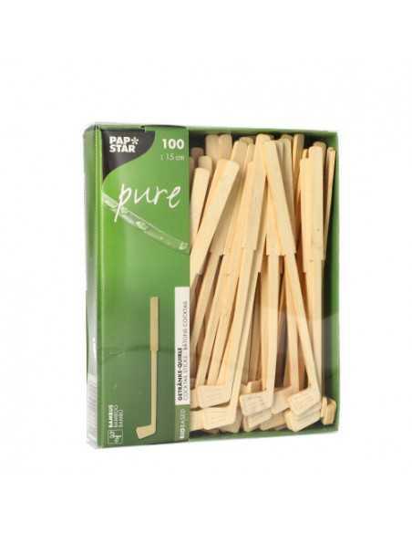 Removedores de cóctel madera bambú 15cm Pure
