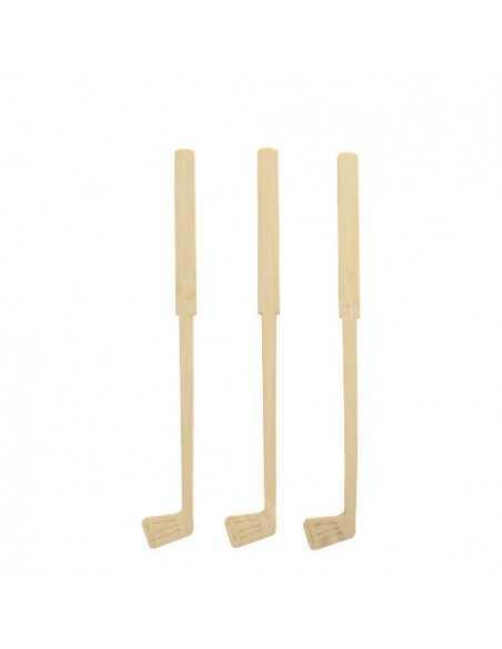100 Batidores de Cóctel Madera Bambú 15 cm Pure Golf