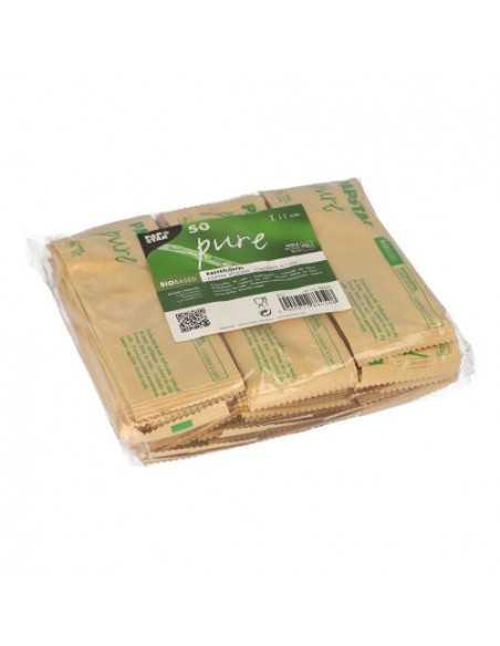 Cucharas café de madera envueltas individualmente 11cm Pure