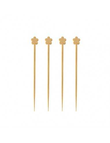 Pinchos decorativos madera de bambú 9 cm Pure flor