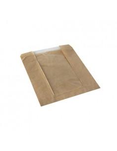 Bolsas panadería papel kraft marrón con ventana 18 x 21cm Pure
