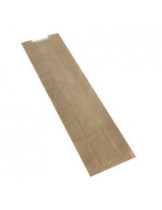 1000 Bolsas Para Barra de Pan Con Ventana PLA  58 x 12 x 5 cm Marrón Pure