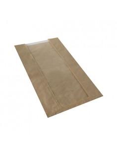 Bolsas para panadería papel marrón ventana PLA compostables Pure