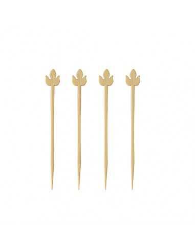 Pinchos decorativos madera de bambú 9 cm Pure Lily