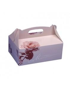 Cajas repostería de cartón decoradas con asa 16 x 10 x 9 cm