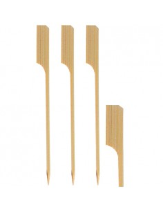 Brochetas madera bambú golf largas 25cm