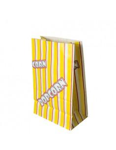 100 Bolsas Para Palomitas Papel Antigrasa 22 x 14 x 8 cm Popcorn
