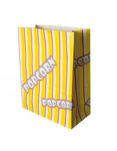 100 Bolsas Para Palomitas Papel Antigrasa 24,5 x 19 x 9,5 cm Popcorn