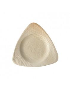Platos triangulares hoja de palma 20 x 20 cm Pure