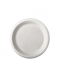 Platos Redondos de Caña de Azúcar Ø 15cm Color Blanco Pure