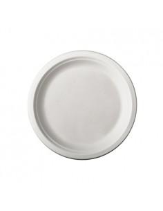 Platos redondos caña azúcar color blanco Ø 15 cm Pure