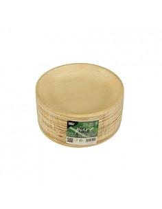 Platos redondos compostables hoja de palma natural Ø 18,5 cm Pure