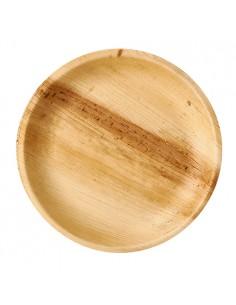 Platos redondos compostables hoja de palma natural Pure Ø 23