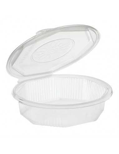 Envases tapa bisagra plástico transparente 1000 ml