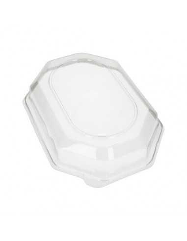 Tapas para bandejas de servicio plástico transparente PET