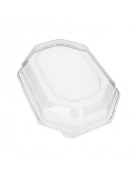 Tapas bandejas de servicio plástico Pet transparente