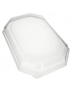 Tapas bandejas de servicio plástico transparente PET
