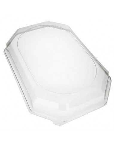 Tapas para bandejas de servicio plástico transparente PET 54 x 35 cm