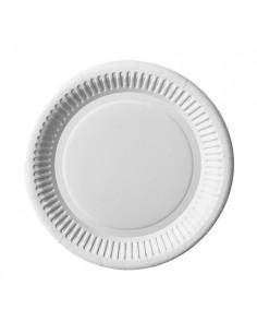 Platos blancos de cartón redondos Ø20 cm Pure