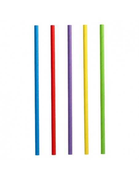 Cañitas para batidos papel colores surtidos Ø 8 x 25 cm Pure