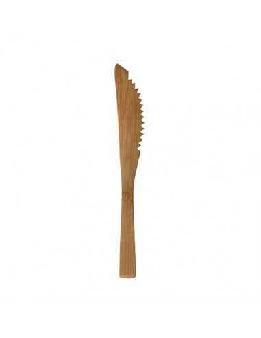 Cuchillos de madera de bambú desechables Pure 16 cm